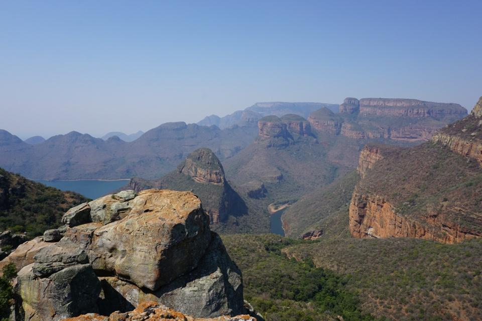 Ausblick auf die Three Rondavels im Blyde River Canyon