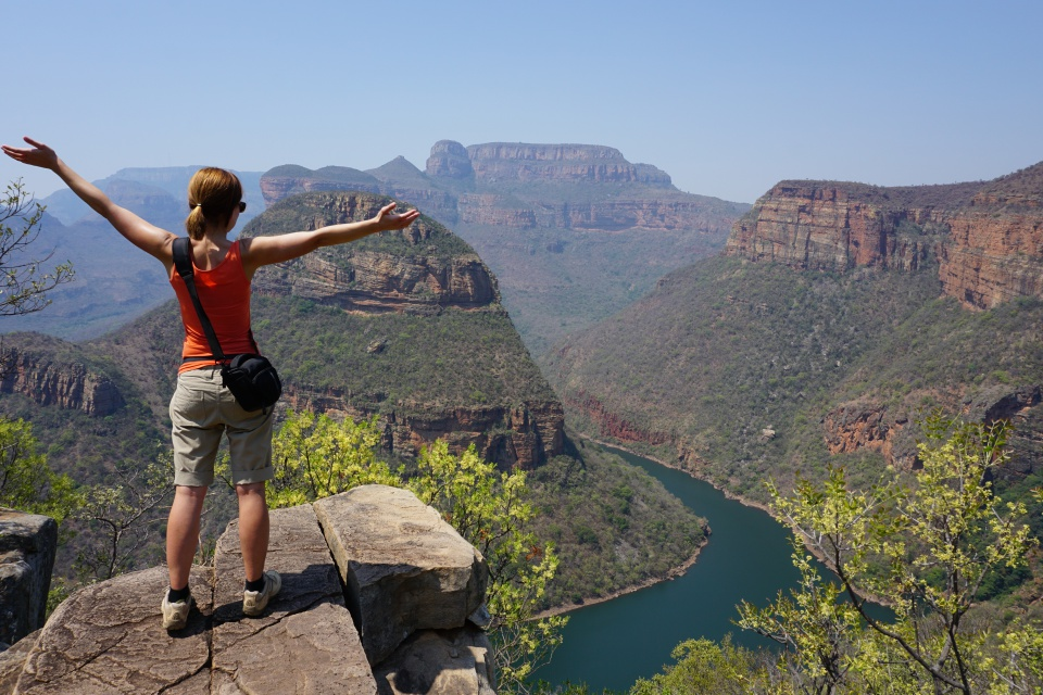 Beim Wandern im Blyde River Canyon - ein Highlight entlang der Panorama Route