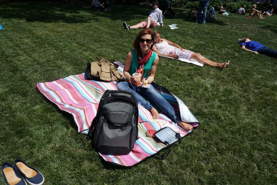 Picknick in einem der zahlreichen New Yorker Parks