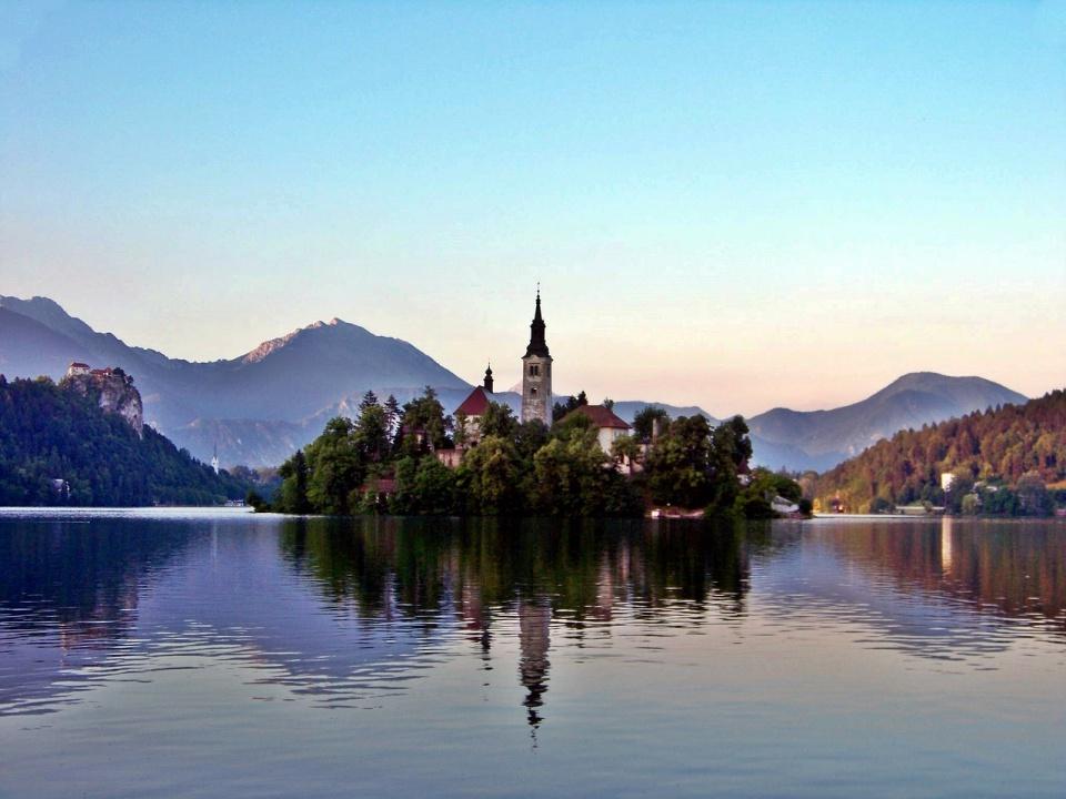 Der bekannte Bleder See in Slowenien
