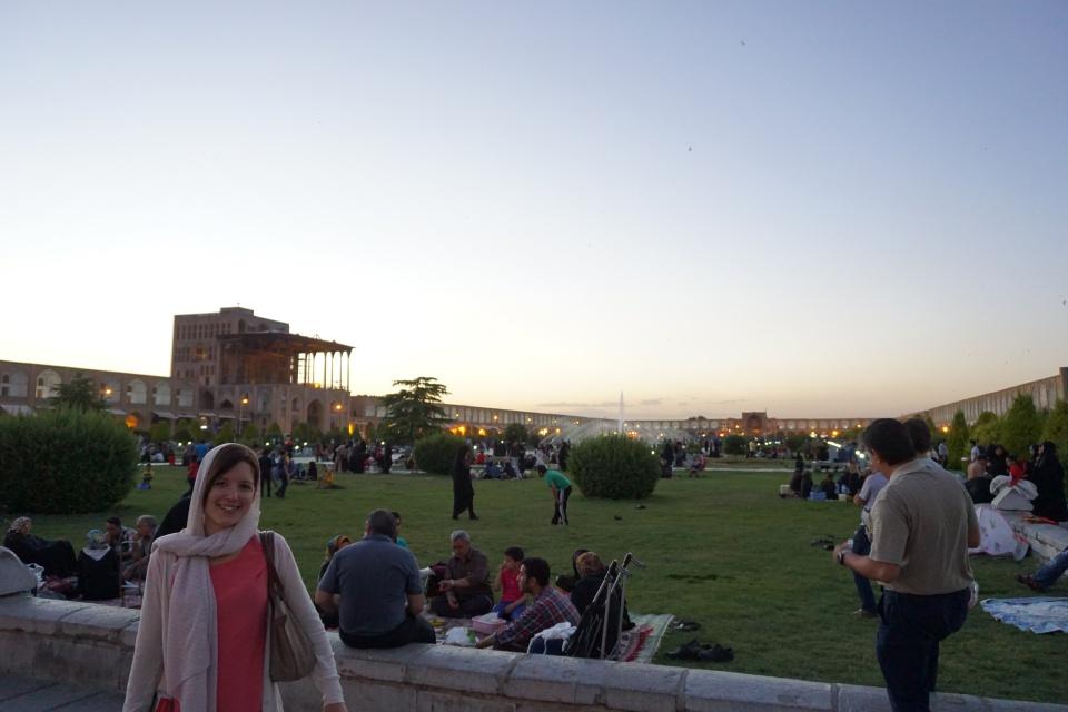 Abends auf dem Meydan-e Imam in Isfahan Iran