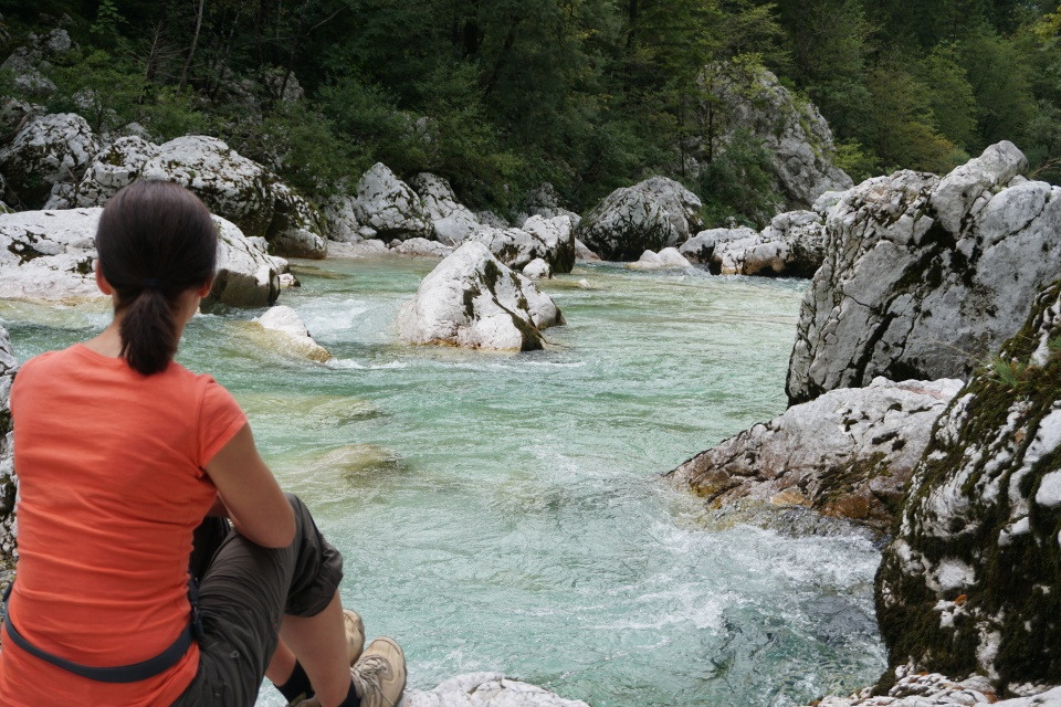 Die Soca im Triglav Nationalpark in Slowenien