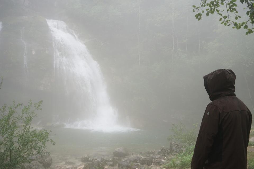 Wasserfall bei Bovec in Slowenien