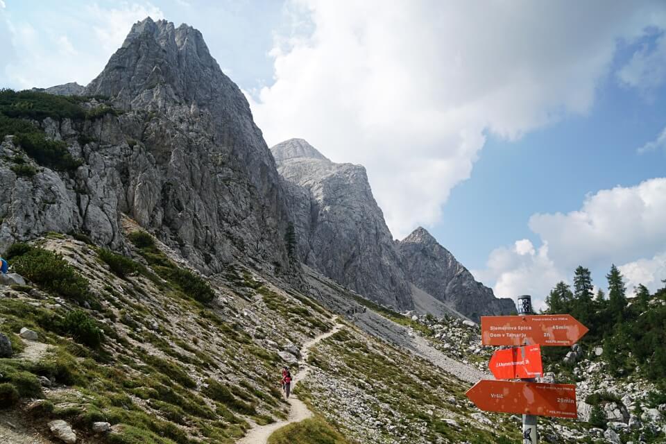 Wandern auf dem Vrsic Pass im Triglav Nationalpark