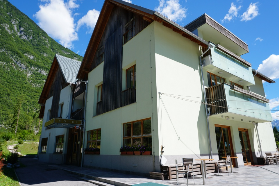 Das Hotel Ana (Hotel Boca) bei Bovec