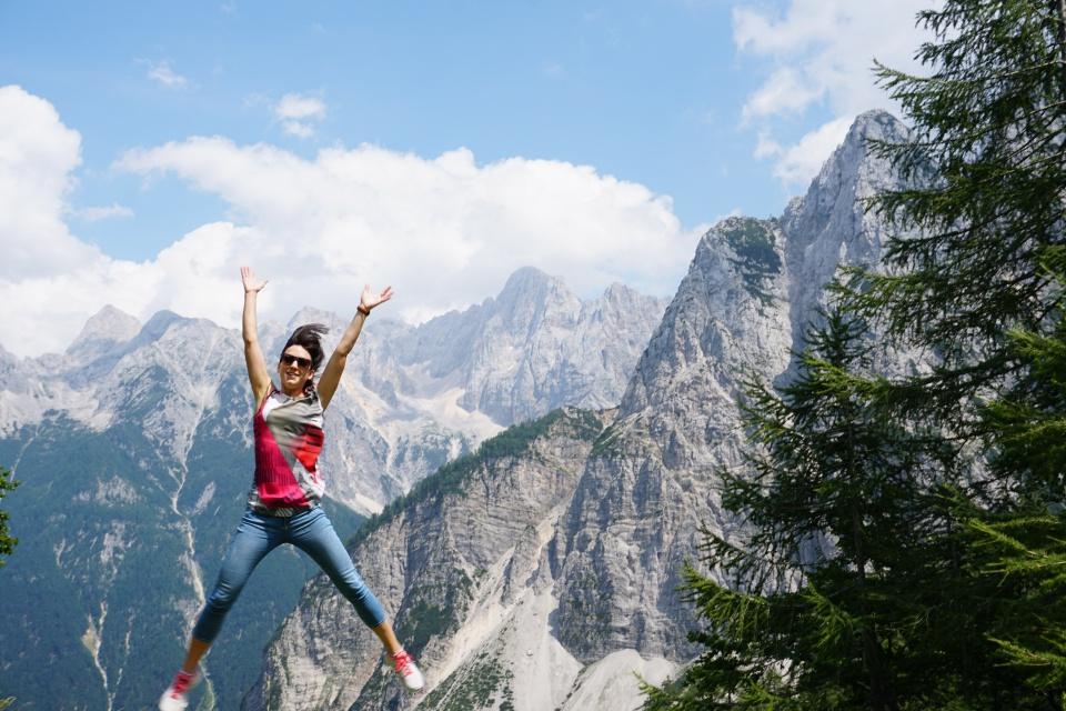 Lisa im Triglav Nationalpark in Slowenien
