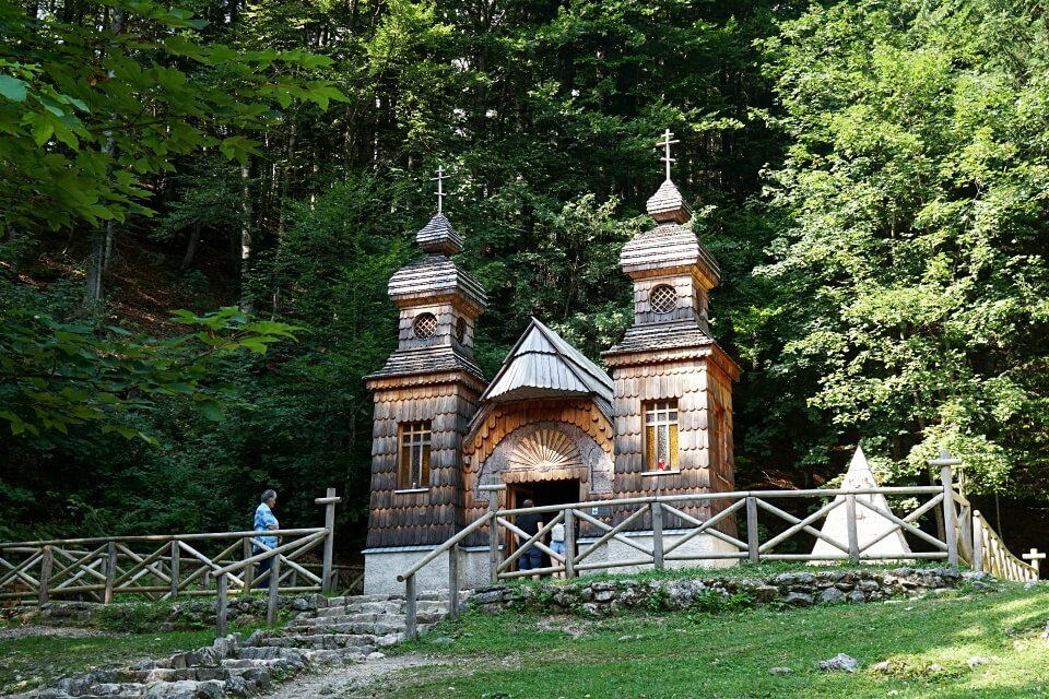 Russische Kapelle auf dem Vrsic Pass
