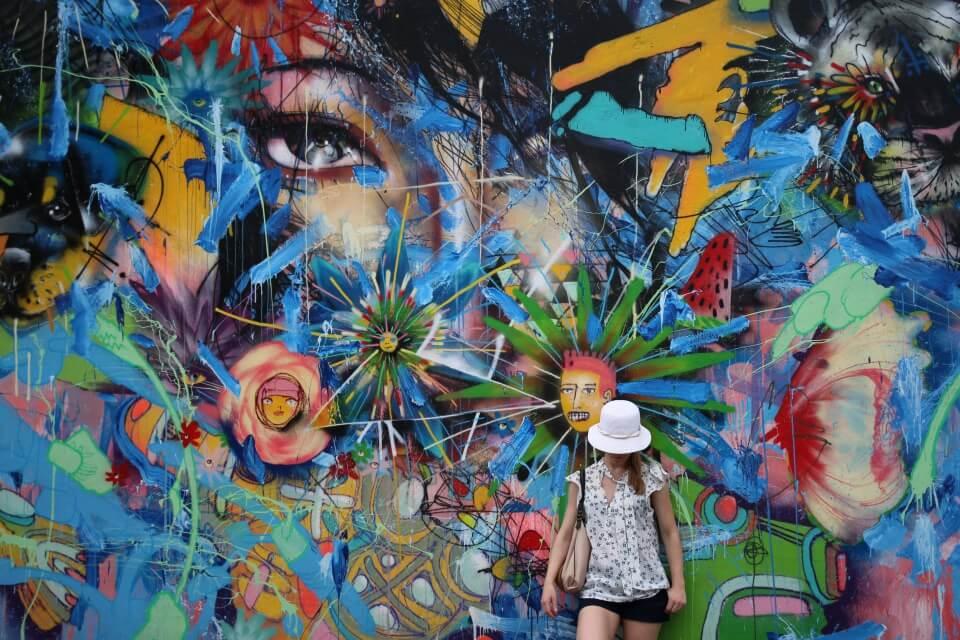 Urban Graffiti Art im Wynwood in Miami Florida USA
