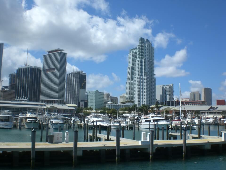 Miami Bayside - Aussicht auf die Skyline Miamis