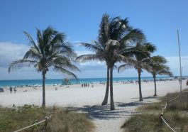 South Beach in Miami, Florida in den USA