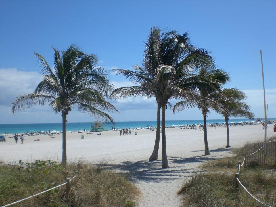 Der beruehmte South Beach in Miami Florida