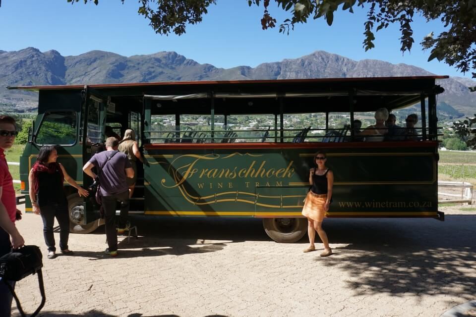 Weingut-Hopping mit der Wine Tram in Franschhoek - absolut empfehlenswert