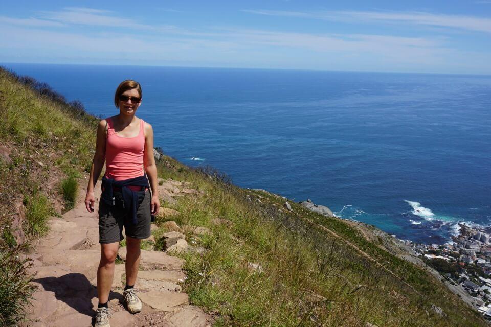 Aufstieg auf den Lions Head in Kapstadt Suedafrika
