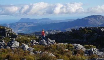 Auf dem Tafelberg in Kapstadt in Suedafrika