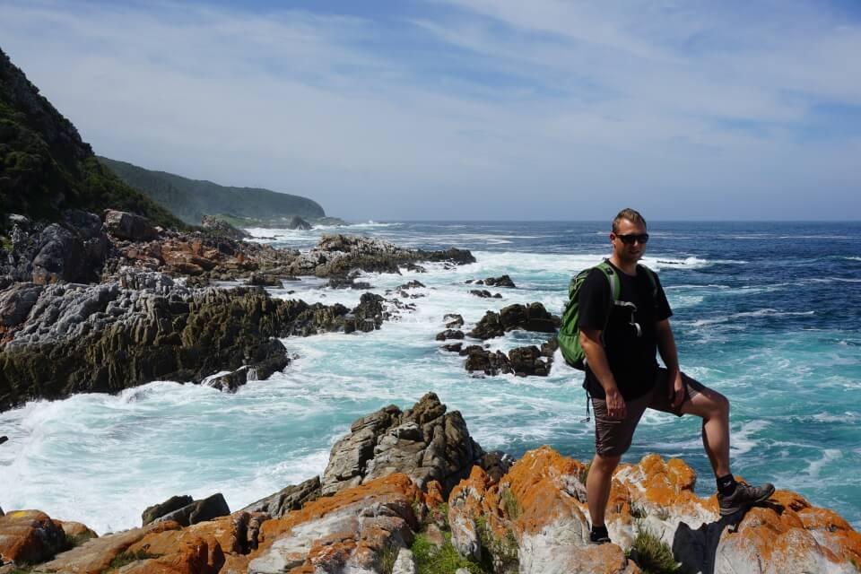 Wanderung im Tsitsikamma Nationalpark an der Garden Route in Suedafrika