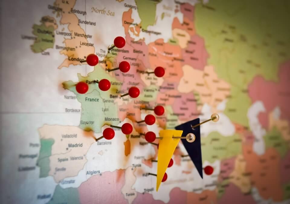 Reiseinspiration - Landkarte wohin will ich reisen