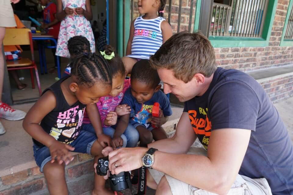 Besuch in einem Kindergarten in Kylemore bei Stellenbosch