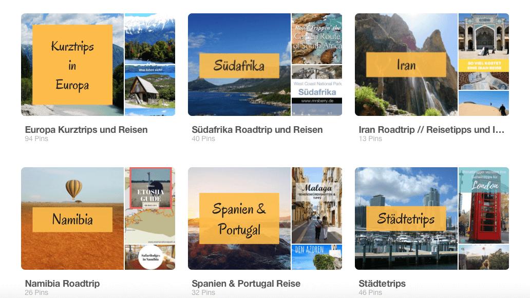 Pinnwaende auf dem Reiseblog Road Traveller auf Pinterest