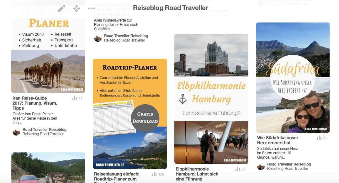Unser Reiseblog Road Traveller auf Pinterest. Reise planen und inspirieren mit Road Traveller.