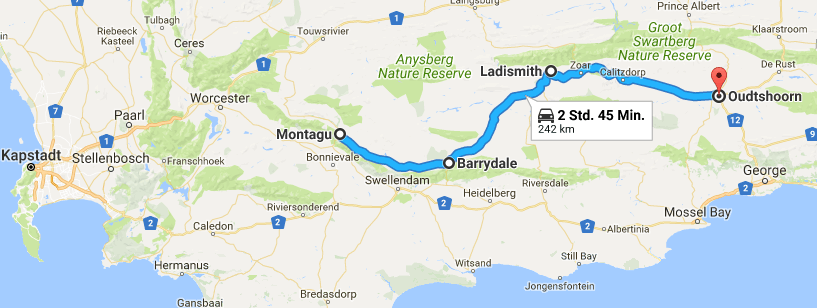 Roadtrip auf der Route 62 durch Suedafrika - Reiseblog Road Traveller