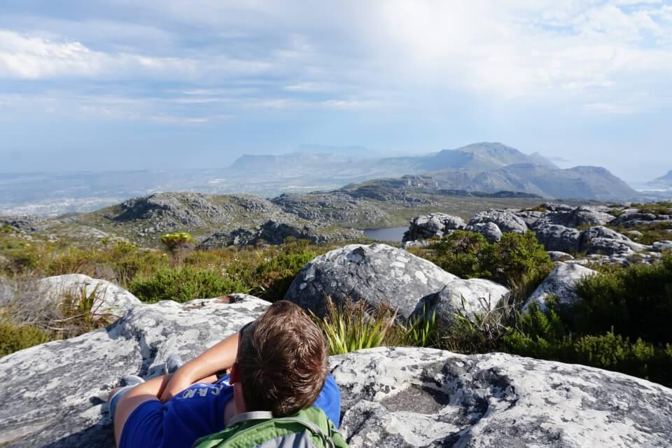 Pause auf dem Tafelberg in Kapstadt.