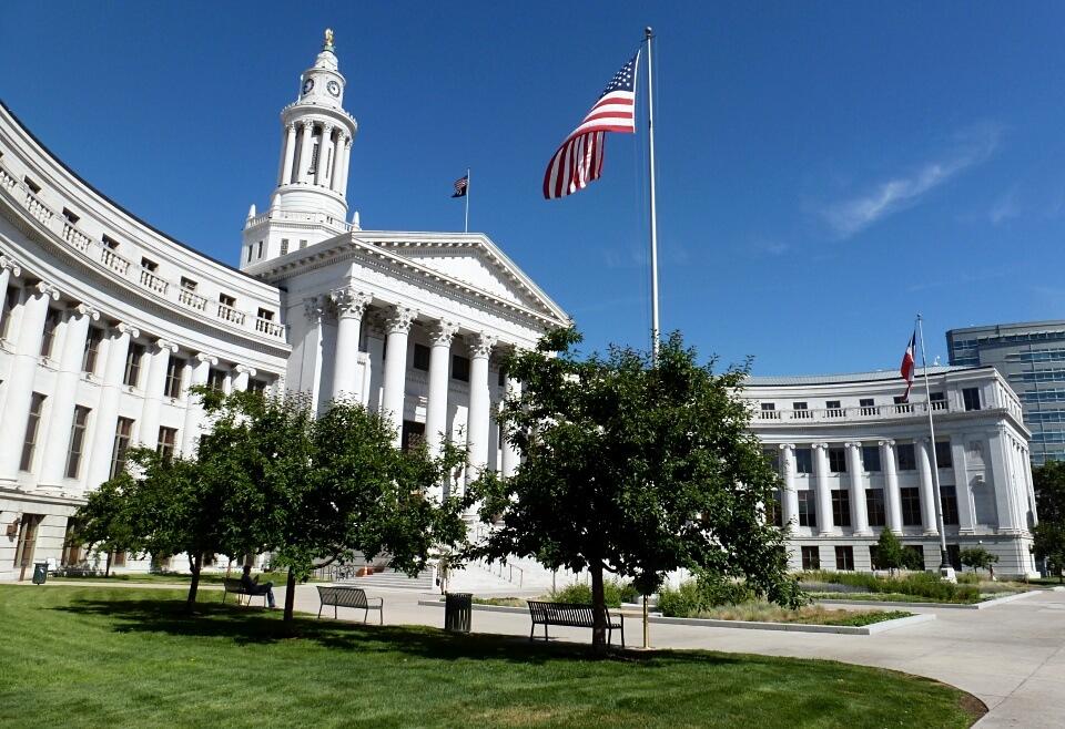 City Hall in Denver auf dem Roadtrip durch die Roche Mountains