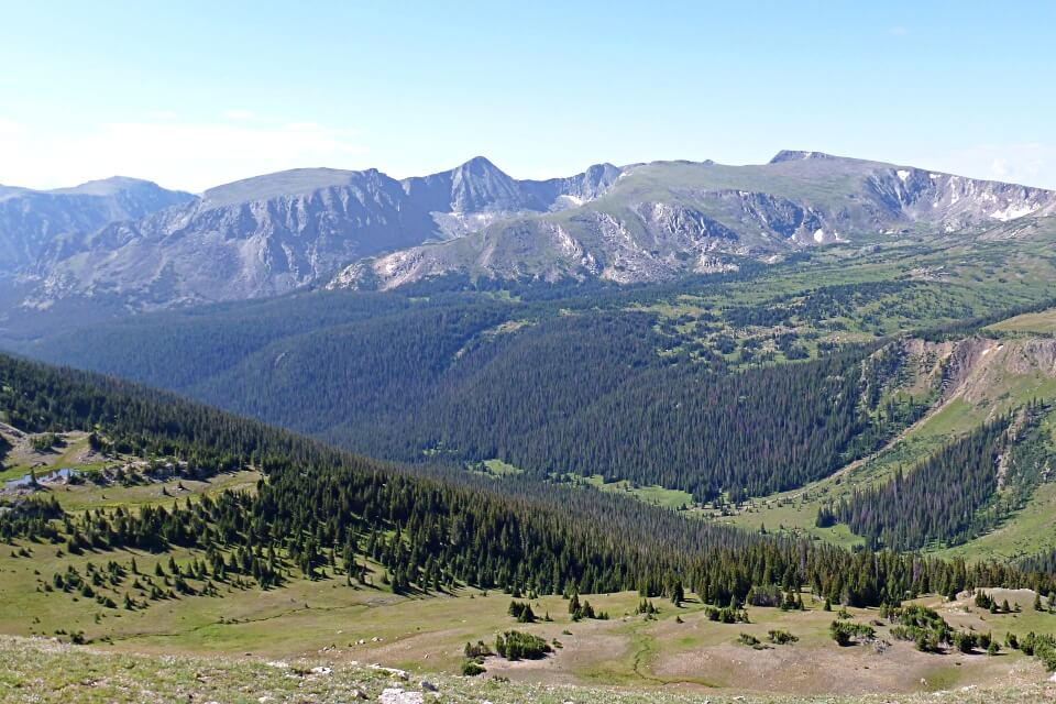 Blick von der Trail Ridge Road im Rocky Mountains Nationalpark