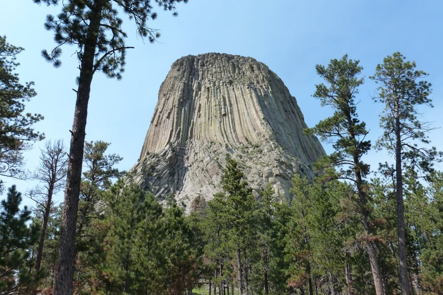 Devils Tower National Monument auf unserem USA Roadtrip durch die Rocky Mountains
