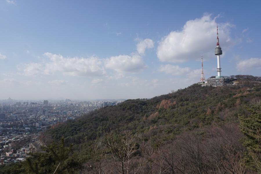Ausblick Namsan Park und N-Seoul-Tower