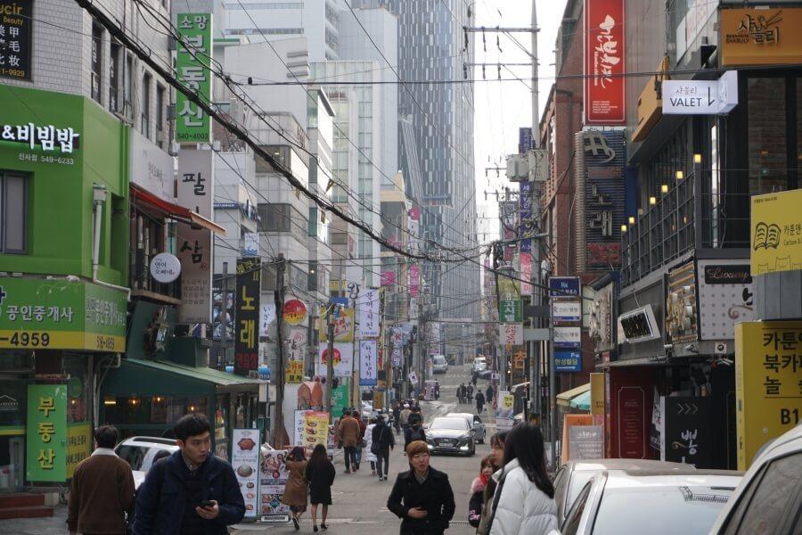 Famous Gangnam in Seoul