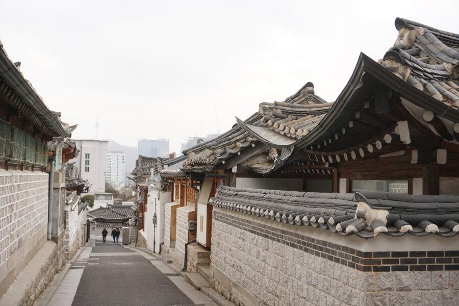 Im Hanok Dorf Bukchon in Seoul
