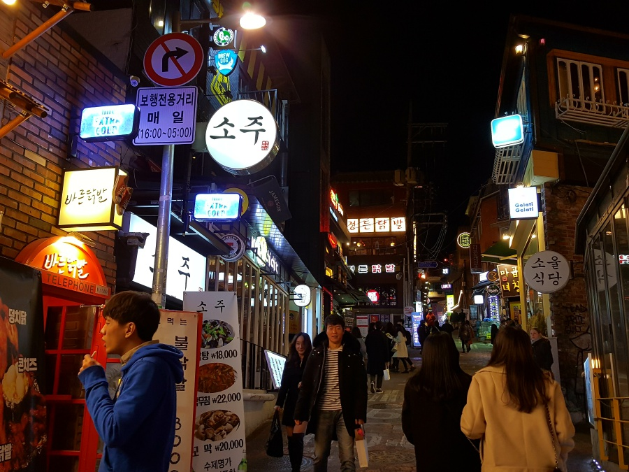 Abends in Itaewon Seoul