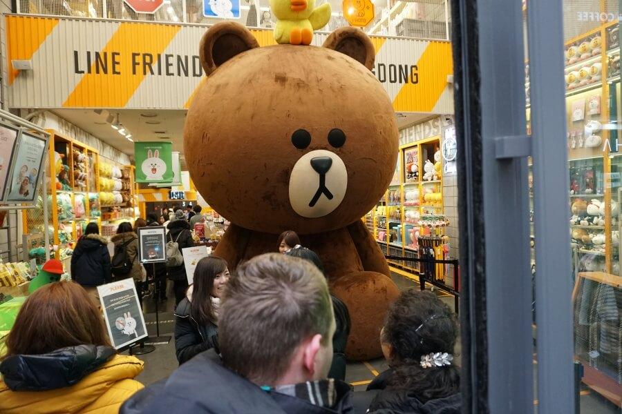 Line Friends Shop in Myeongdong Seoul