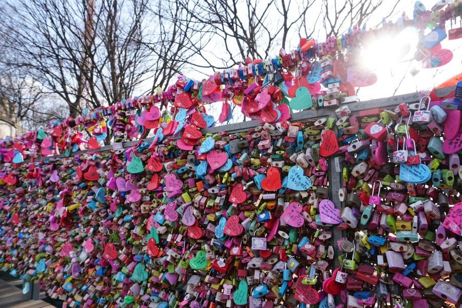 Love Locks am Namsan Seoul Tower