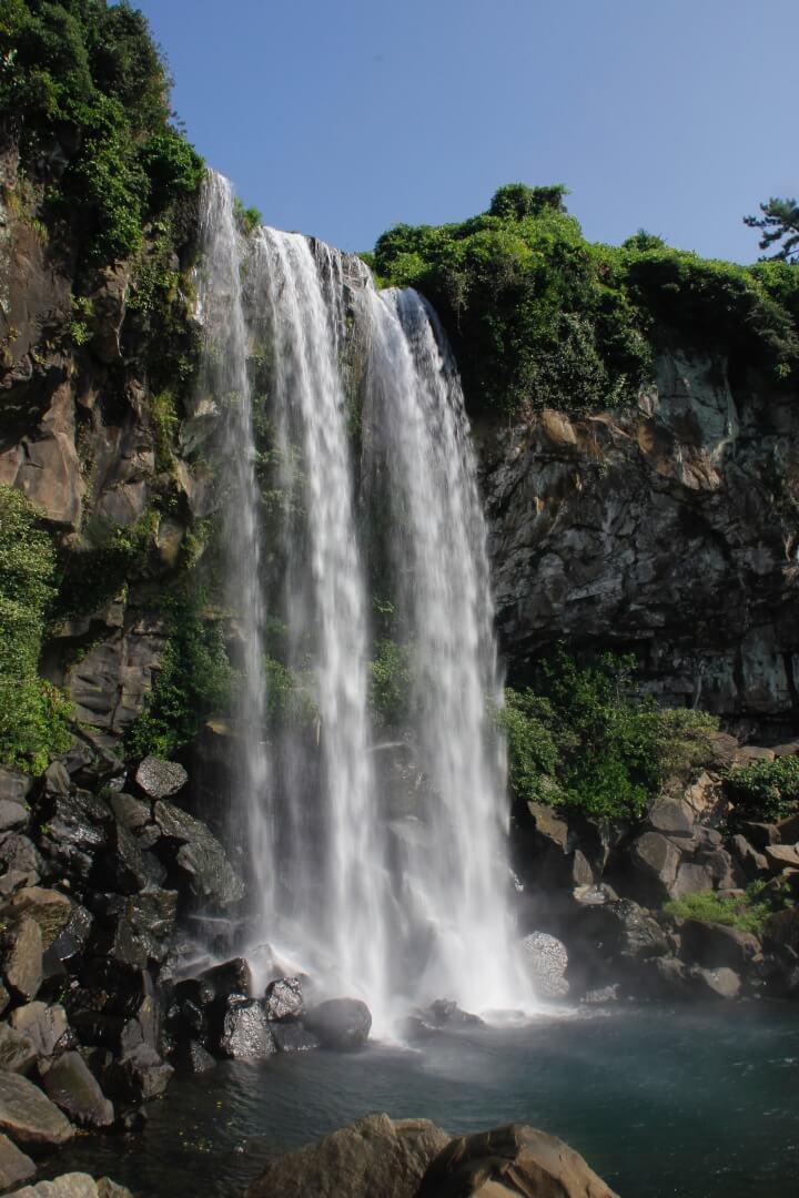 Wasserfall auf Jeju Island