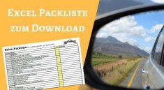 Reise Packliste als Excel Vorlage zum Download von Road Traveller
