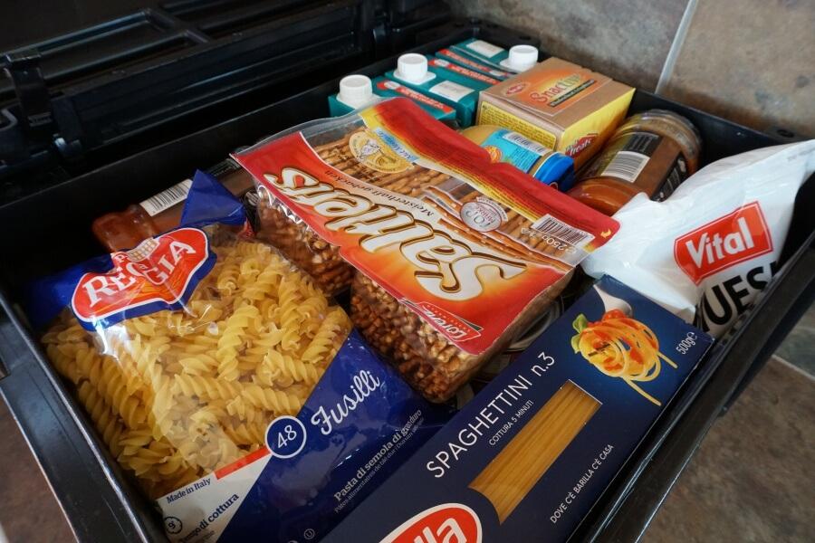 Lebensmittel staubfrei verpackt