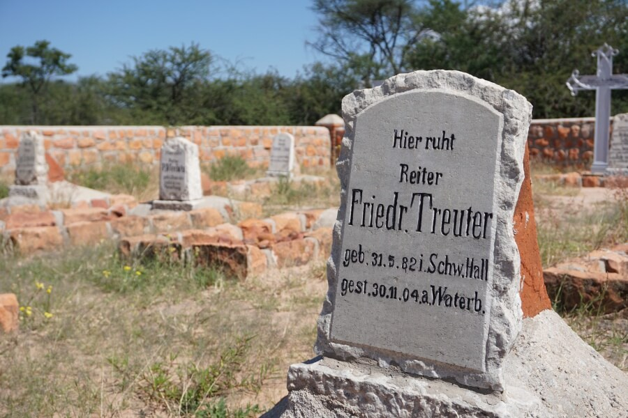 Soldatenfriedhof am Fuß des Waterberg