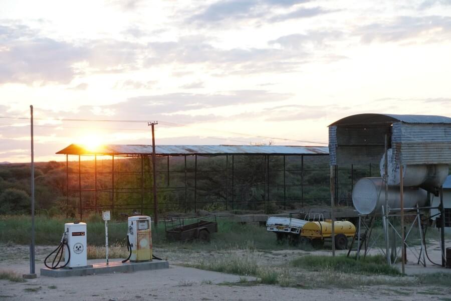 Sonnenuntergang auf der Waterberg Guest Farm in Namibia