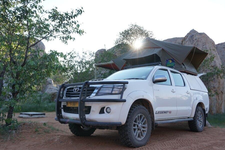 Namibia ist das perfekte Land fuer einen Camping Roadtrip mit dem Dachzelt