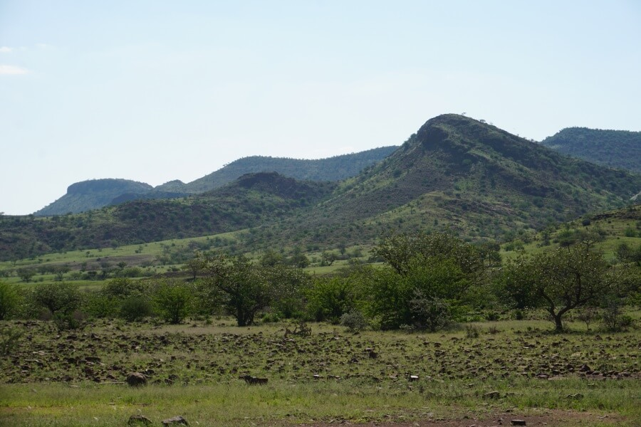 Auf dem Grootbergpass in Namibia
