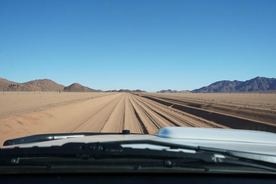 Auf dem Weg zur Koiimasis Ranch in den Tirasbergen