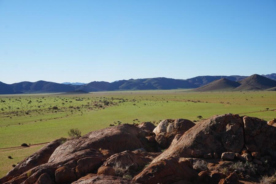 Ausblicke in den Tirasbergen Namibia auf der Koiimasis Ranch