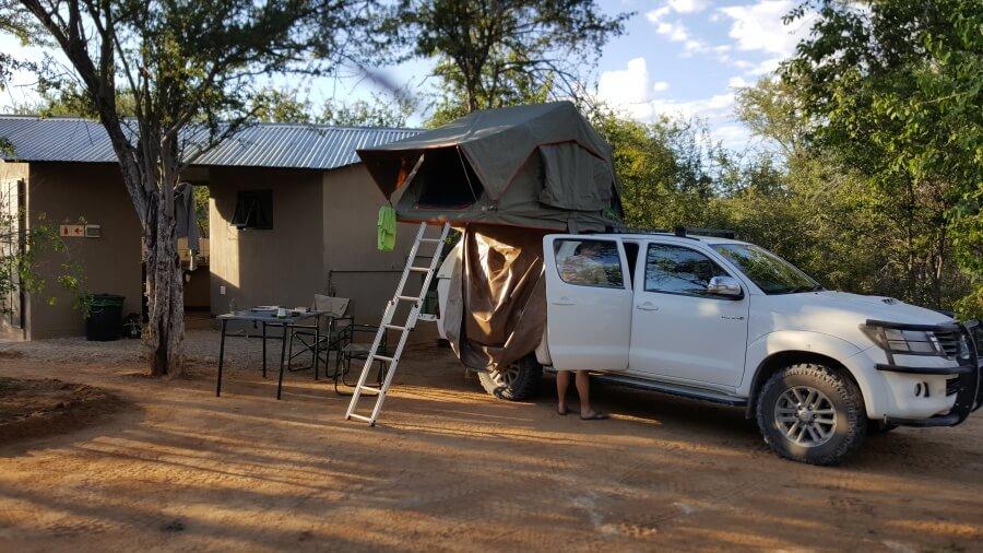 Stellplatz auf der Tamboti Campsite