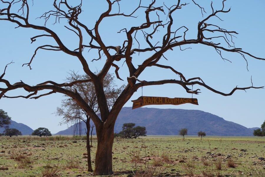 Die Koiimasis Ranch in den Tirasbergen im Sueden von Namibia