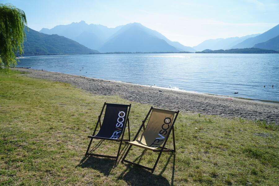 Unser Strand direkt am Campingplatz North Wind in Domaso am Lago di Como