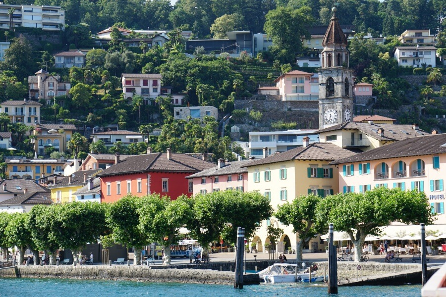 Promenade in Ascona am Lago Maggiore