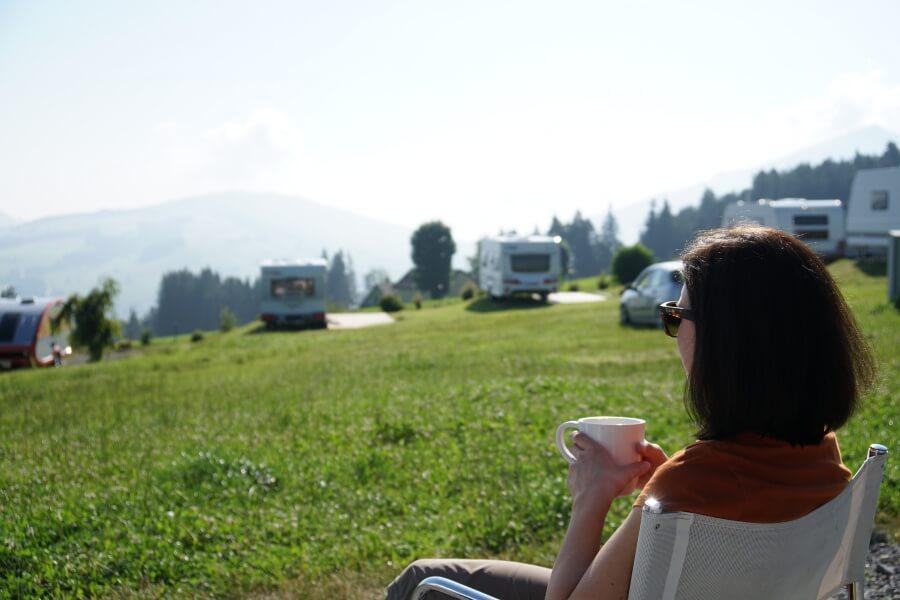 Lisa auf dem Campingplatz in Appenzell