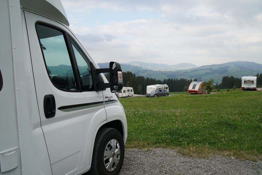Unser Campingplatz in Appenzell auf der Grand Tour of Switzerland