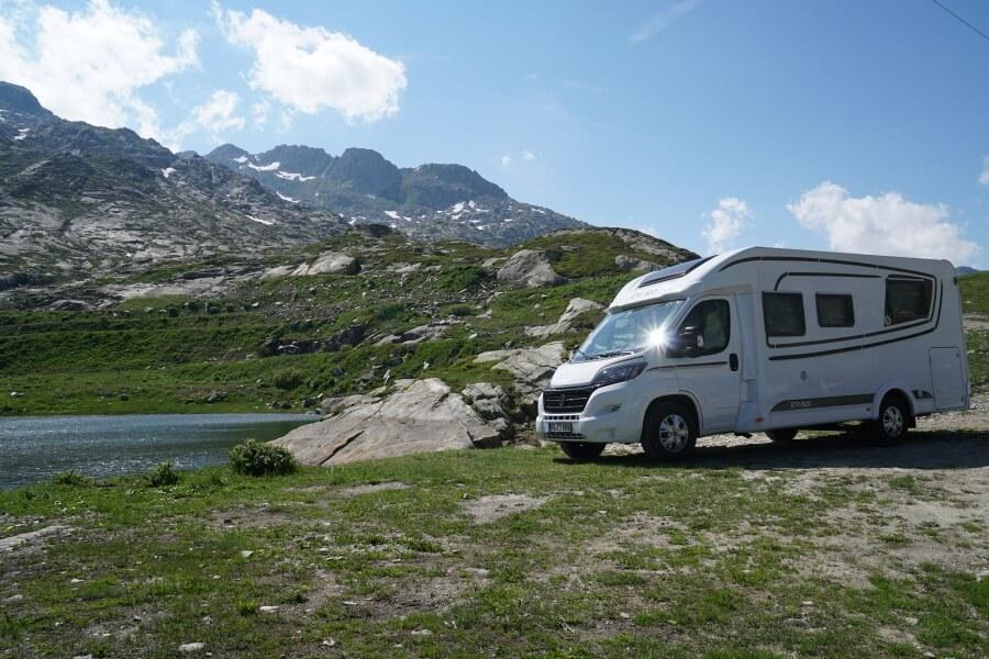 Mit dem Wohnmobil auf dem Gotthardpass auf unserem Schweiz Roadtrip